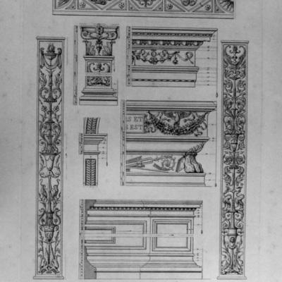 Dettagli del Monumento Sepolcrale di Giuliano da Volterra nella Chiesa di S. Pietro Montorio