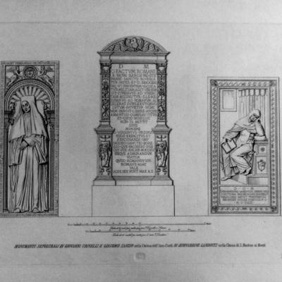 Monumento Sepolcrale di Giovanni Crivelli e Giacomo Sanzio nella Chiesa dell'Ara-Coeli in Bernardino Landucci nella Chiesa di S. Machimo ai Monti